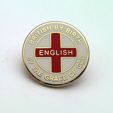 """ENGLISH BY THE GRACE OF GOD"" ENGLAND ENAMEL LAPEL BADGE - Flag, Patriotic, Pin"