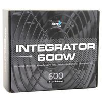 AeroCool Integrator 600W 85+ PC ATX Gaming Power Supply 120mm Fan Active PFC PSU