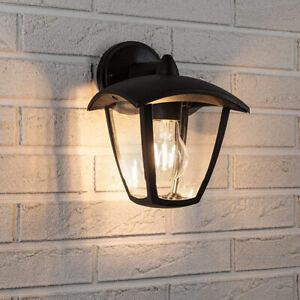 CGC Black Coach Lantern Outdoor Wall Light Traditional Waterproof Security UK