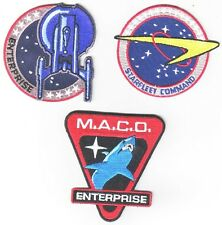 Star Trek Enterprise TV Series Logos Embroidered DELUXE Patch Set of (3)
