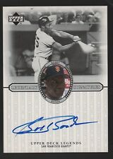 2000 UPPER DECK LEGENDARY SIGNATURES BOBBY BONDS SAN FRANCISCO GIANTS AUTO CARD
