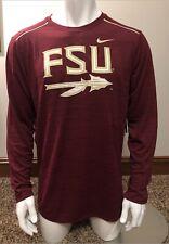 Nike Dri-Fit Men's L Shirt Florida State Seminoles FSU 1/4 Zip Long Sleeve