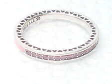NEW AUTHENTIC Pandora Radiant Hearts Pink CZ Ring 191011PCZ size 6 or 7.5