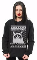 Merry Catmas Ugly Christmas Sweater Cat Lover Christmas Unisex Funny Sweatshirt
