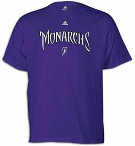 Adidas WNBA Men's Sacramento Monarchs Short Sleeve Tee Shirt, Purple