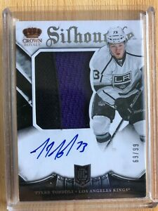 2013-14 Crown Royale Silhouette TYLER TOFFOLI Jersey Auto Patch RPA Rookie RC/99