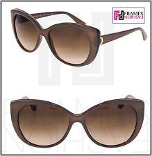 BVLGARI LOGO BV8169Q Turtledove Leather Brown Gradient Cat Eye Sunglasses 8169