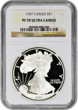 1987-S American Silver Eagle Proof - NGC PF70 UCAM