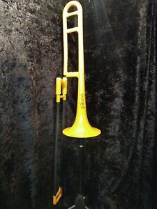 pBone Student Model Plastic Trombone - Yellow W/bag