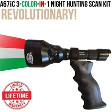 Wicked Lights A67iC 3-Color-In-1 Ergo Scan Night Hunting Light Kit for coyotes