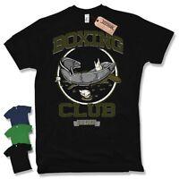 T-Shirt - BOXING CLUB - FIGHT MMA Funshirt Retro lustig Baumwolle S M L XL XXL