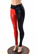 MEDIUM Red & Black Harlequin High Waist Spandex Cosplay Leggings Ready To Ship!