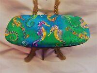 Unisex hard eyeglass case/Seahorse theme//health & beauty/handmade/adult gift