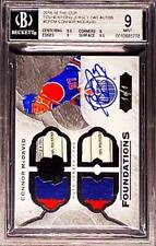 2015-16 UD The Cup Foundations Connor McDavid 1/1 RPA Quad Patch BGS 9 10 AUTO