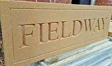 Deeply engraved Bathstone stone house sign 500 x 150mm x 50mm