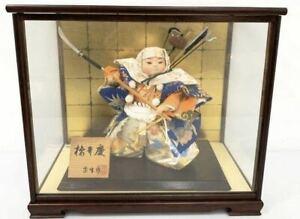 Japanese Traditional Antique Vintage Samurai doll warrior Figure Armor BENKEI M