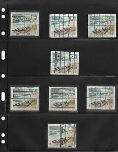 LOT OF 15 DIFFERENT PRECANCELED HATTERAS BLOCKS OF 4 FROM SMALL MAINE TOWNS!