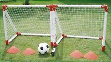 KIDS MINI FOOTBALL GOAL POSTS & BALL & CONES CHILDRENS GARDEN PRACTICE GOALS