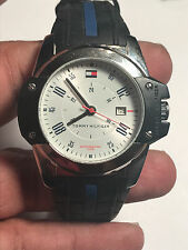 Nice Men's Black Band Tommy Hilfiger F90297 Analog Watch With Date Feature