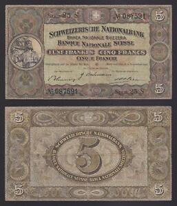 Svizzera / Suisse 5 francs 1942  BB/VF  C-08