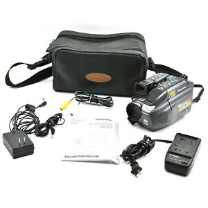 Panasonic Palmcorder PV-L621D VHS-C Camcorder w/ Bag & Accessories!