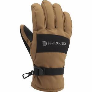 NEW Carhartt Mens W.P. Waterproof Insulated Work Glove Brown Black Large