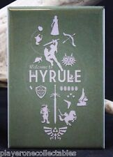 Welcome to Hyrule / The Legend of Zelda - Fridge / Locker Magnet. Ninitendo NES