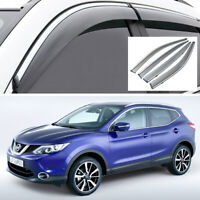Car Window Visor Vent Deflector Sun/Rain Guards Set for Nissan Qashqai 2015-2020