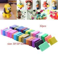 32x Colorful Craft Soft Polymer Clay Plasticine Blocks Fimo Effect Modeling Toys