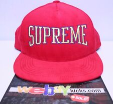 Supreme New York Dotted Arc 5 Panel Red Yellow Snapback Cap Hat FW17H54 New