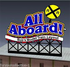 Miller's All Aboard  Animated Neon Sign O/HO customizable  #88-1851