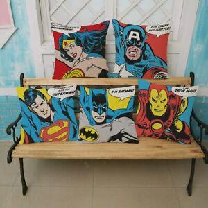 Art Superheroes Sofa Cushion Cover Justice League Wonder Woman Batman Superman