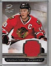 11/12 Upper Deck The Cup Jonathan Toews Silver Base Jersey #'ed 25/25