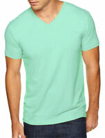 Next Level Men's Short Sleeve V Neck Sueded Rib Collar Basic Tee. NL6440