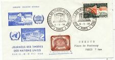 TIMBRE STAMP ZEGEL ENVELOPPE SOUVENIR NATIONS UNIES JOURNEE DU TIMBRE A PARIS