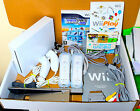 White Nintendo Wii Console 2 Remotes 2 Nunchucks 20 Games Just Dance & Play+GIFT