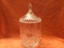 Vintage Cristal LARGE Candy Dish/Jar/Container with lid  !!!