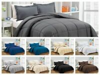1000 TC Down Alternative Comforter 300 GSM & 400 GSM All Solid Color & Sizes
