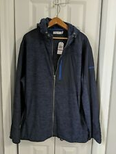 Men's Nautica Fleece Jacket Size XXL Slim Fit Navy Blue NWT