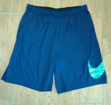 Nike Knit Workout Shorts 844641-429 Binary Blue/Green Men's Size XXL