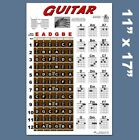 Guitar Chord Wall Chart Fretboard Instructional Poster Beginner Chords Notes