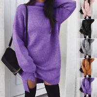 Sweater Dress Dress Long Sleeve Cocktail Mini dress Plus size Women Winter