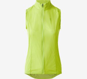 Specialized Women's Medium Deflect Cycling Wind Vest Hyper Green Brand New