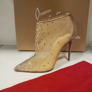 Christian Louboutin CONSTELLA BOOTIE 100 Crystal Strass Mesh Boots Heels $1695