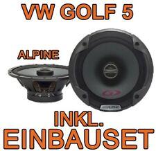 VW GOLF 5 V ALPINE 16cm KOAX LAUTSPRECHER BOXEN HINTEN HECK-SYSTEM NEUWARE
