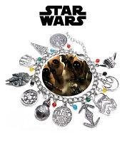 Star Wars Charm Bracelet Movie Book Series Jewelry Multi Charms