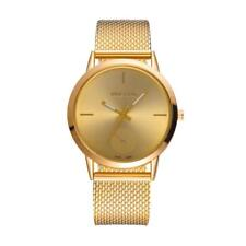Men Women Classic Luxury Mesh Belt Analog Quartz Stainless Steel Wrist Watch US