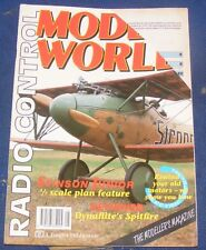 RADIO CONTROL MODEL WORLD MAGAZINE MAY 1992 - DYNAFLITE'S SPITFIRE REVIEWED