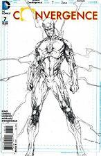 Convergence #7 Bret Booth Sketch Variant NM 1:100 (Flash) DC Comics (2015) Flash