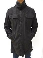 Men's G STAR RAW £179 'New Fleet Garber Trench' Black Coat Jacket Size XL #5080